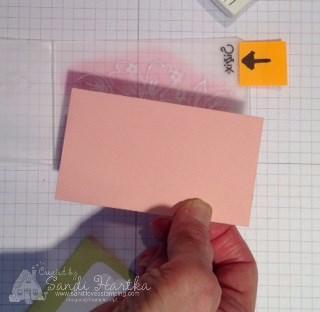 6-21-16 4 Place cardstock in Floral Affection folder