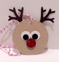 Stitched Shapes Reindeer Tag