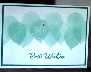 Balloon template card