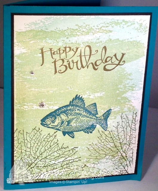 Watercolor Wash StampinUp Stamp