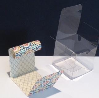 Turkey tiny treat box - box with designer paper