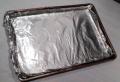 Cookie sheet w foil
