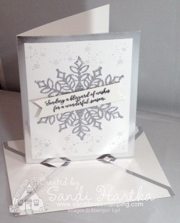 11-20-18 Snowfall meets Silver edged cards