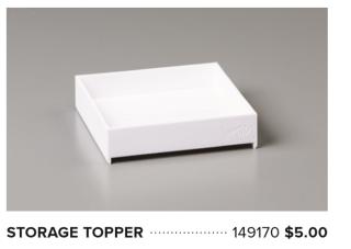 Storage topper