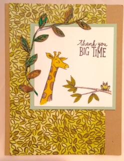 Gold leaf trim card