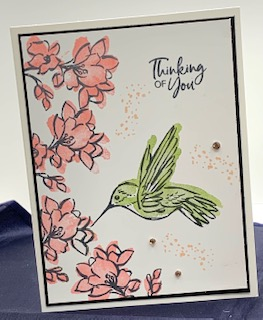 Touch of ink - hummingbird