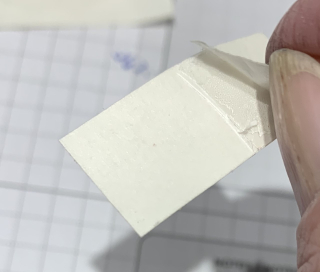 Peel backing on cling material