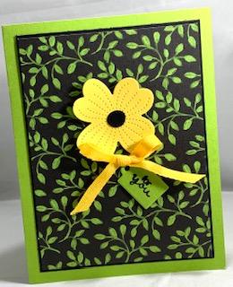 Flower & field card