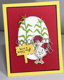 3-12-21 Hey Chick cornstalks