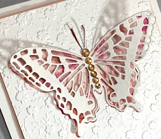 Butterfly cutout close up