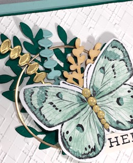Hoop card - close up